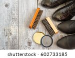 shoes and care products for... | Shutterstock . vector #602733185
