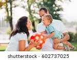 happy family having fun...   Shutterstock . vector #602737025
