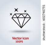 vector icon diamond | Shutterstock .eps vector #602740751