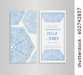 vintage template design layout... | Shutterstock .eps vector #602742857