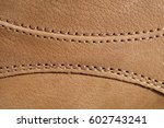 macro detail of a brown leather ... | Shutterstock . vector #602743241