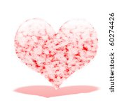 heart covered with lots of... | Shutterstock . vector #60274426