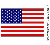 vector illustration of usa flag | Shutterstock .eps vector #602745074