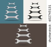 wrenches. set of wrenches. icon ... | Shutterstock .eps vector #602745131