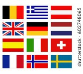 vector illustration of flags of ...