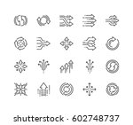 simple set of abstract... | Shutterstock .eps vector #602748737