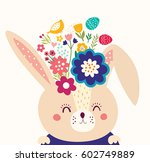 happy easter card. holiday... | Shutterstock .eps vector #602749889