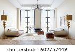 3d rendering modern living room | Shutterstock . vector #602757449