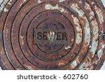 Rusted Manhole Cover.