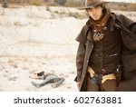 duel between cowboys. affair of ... | Shutterstock . vector #602763881