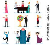 people in casino set with... | Shutterstock .eps vector #602771819