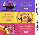 colorful casino horizontal...   Shutterstock .eps vector #602772107