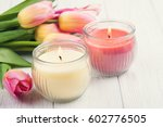 Yellow And Pink Aroma Candles...