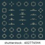 huge rosette wicker border... | Shutterstock .eps vector #602776544