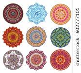 mandala set. colorful ethnic...   Shutterstock .eps vector #602777105