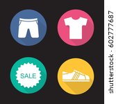 sport clothes store sale. flat...   Shutterstock .eps vector #602777687