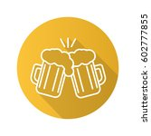 toasting beer glasses. flat... | Shutterstock .eps vector #602777855
