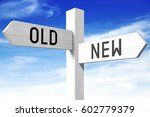 New  Old   Wooden Signpost