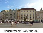 the old market in krakow ... | Shutterstock . vector #602785007