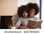 young beautiful multiethnic... | Shutterstock . vector #602785601