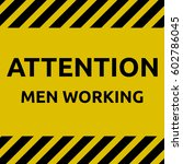 men working sign | Shutterstock .eps vector #602786045