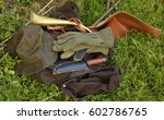 hunting equipment | Shutterstock . vector #602786765