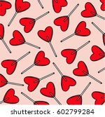 candy hearts pattern vector....