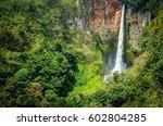 powerful sipisu pisu waterfall... | Shutterstock . vector #602804285
