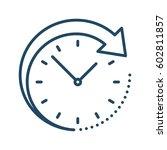 arrow around clock vector icon   Shutterstock .eps vector #602811857