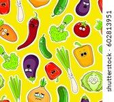 cartoon vegetable cute...   Shutterstock .eps vector #602813951