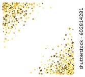 triangle corner gold frame or... | Shutterstock .eps vector #602814281