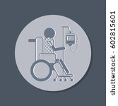 a sick man in a wheelchair.... | Shutterstock .eps vector #602815601