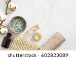 spa beauty cosmetic products... | Shutterstock . vector #602823089