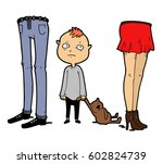 the child feels unloved and... | Shutterstock .eps vector #602824739