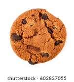 chocolate chip cookies isolated ... | Shutterstock . vector #602827055