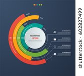 circle informative infographic... | Shutterstock .eps vector #602827499