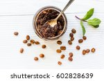homemade cosmetics with coffee... | Shutterstock . vector #602828639