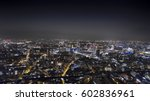 aerial nigh view of london | Shutterstock . vector #602836961