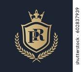 pr logo | Shutterstock .eps vector #602837939