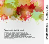 watercolor backgrounds for... | Shutterstock . vector #602839151