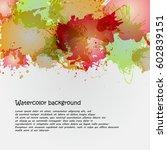 watercolor backgrounds for... | Shutterstock . vector #602839151
