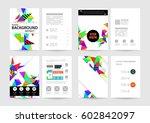 memphis geometric background... | Shutterstock .eps vector #602842097