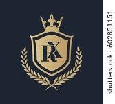 rx logo | Shutterstock .eps vector #602851151