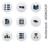 vector illustration set of... | Shutterstock .eps vector #602862419