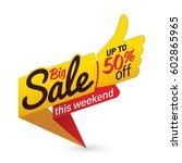 big sale price offer deal... | Shutterstock .eps vector #602865965