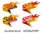 hot sale price offer deal... | Shutterstock .eps vector #602865989