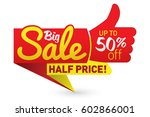 big sale price offer deal... | Shutterstock .eps vector #602866001