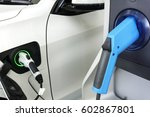power supply for electric car... | Shutterstock . vector #602867801