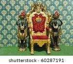 Golden Vintage Luxury Throne...