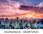 Colorful Sunset Over The City ...